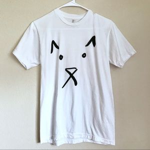 American Apparel Dog Face Graphic Tee